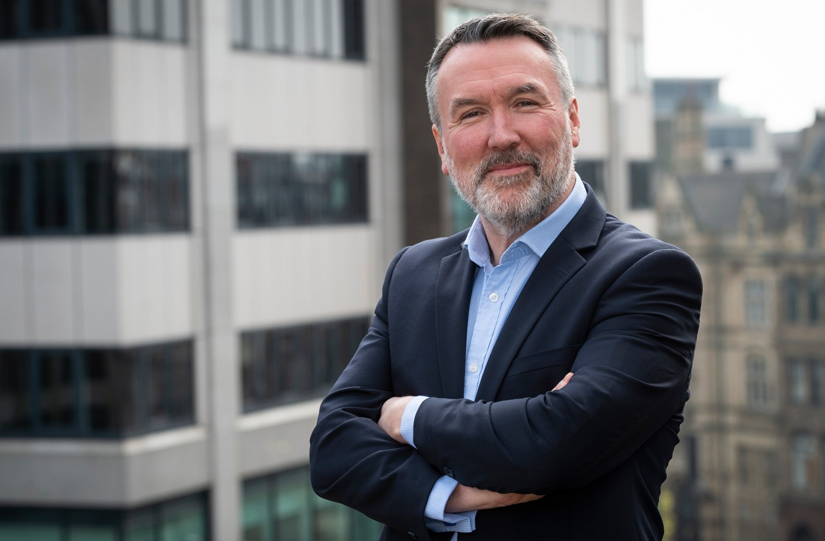 A photo of Stuart Clarke, founder of Paceline, a marketing and PR consultancy for the tech sector in Leeds. In the post,Stuart discusses the people, places and events to follow to build a strong network in Leeds.